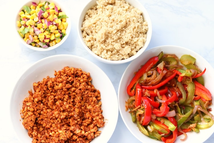 quinoa tempeh burrito bowl ingredients