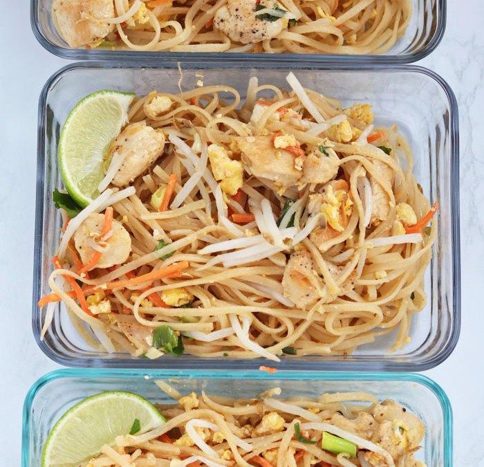 pad thai meal prep