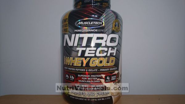 Nitro Tech Gold Venenezuela Muscletech. 5.51lbs Cookies And Cream