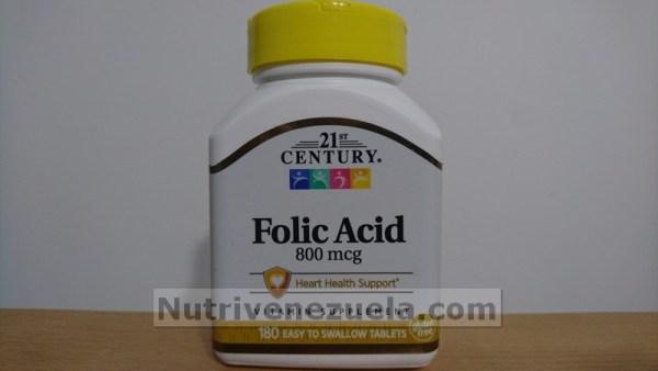 Acido Folico Venezuela 800mcg