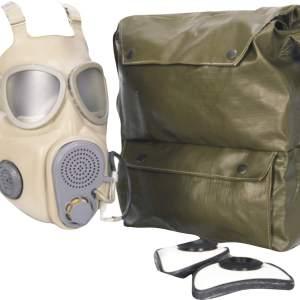 Plynová maska ČSĽA M10 s hadičkou na pitie