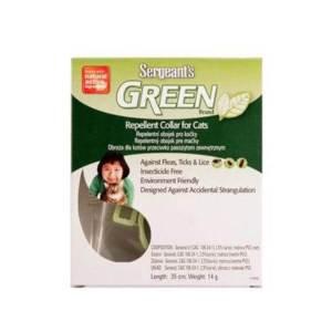 Sergeanťs Green brand obojok pre mačky 35cm