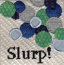 sip needlepoint coaster