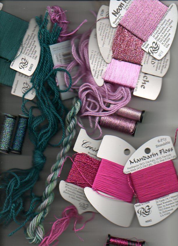 various needlepoint threads