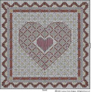 Free Heart Needlepoint from Laura Perin