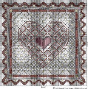 Free Heart Needlepoint from Laura Perin