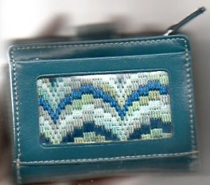 Make a Needlepoint Wallet with Bargello in an Afternoon!