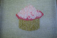 Another Bargello Cupcake