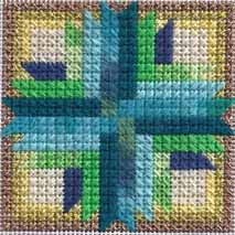Sunburst Mosaic Ornament — Free Needlepoint Pattern