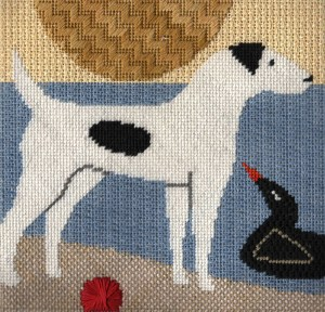 How to Approach a Hand Painted Canvas Needlepoint