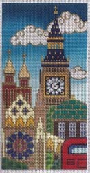 amanda lawford needlepoint canvas of London
