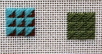 Arrowhead -Great Scotch Stitch Variation for Needlepoint