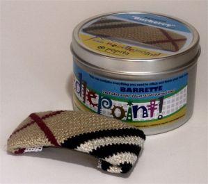 needlepoint barrette beginners kit from Pepita Needlepoint