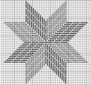 8 point star charted for needlepoint by janet perry