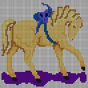 berlinwork pony needlepoint chart
