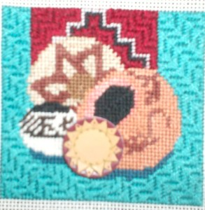 Adding a Shank Button to Needlepoint