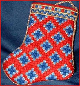 sutton hoo mini-sock from needlepoint expert janet m. perry