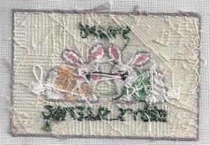 back of stitched needlepoint by Kathy Schenkel
