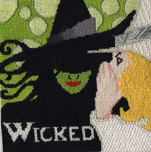 wicked needlepoint, designed by raymond crawford, stitch guide by needlepoint expert janet m. perry