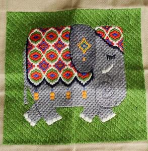 bargello needlepoint elephant