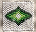 mini bargello needlepoint ogee free pattern, designed and stitched by needlepoint expert janet m. perry