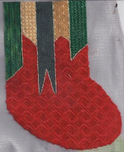 Holiday Ribbons – Free Needlepoint Stocking – Part 1