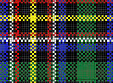 Irish National charted needlepoint or cross stitch tartan plaid, designed by needlepoint expert janet m. perry