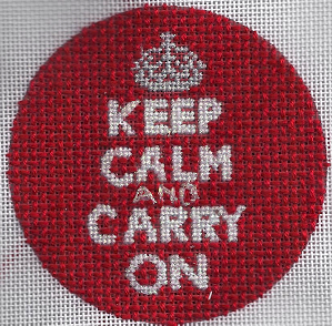 keep calm needlepoint