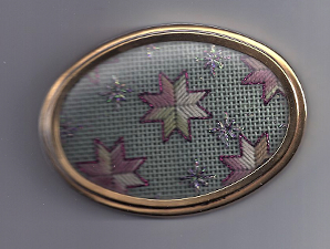 needlepoint star boxtop, designed by expert janet m. perry