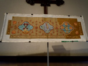Kneeler for Patron's Chapel at St. Martin's Episcopal Church in Houston (fphoto copyright St. Martin's Episcopal Church)