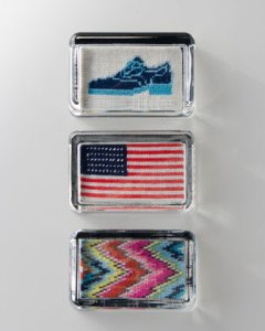 adler needlepoint paperweights