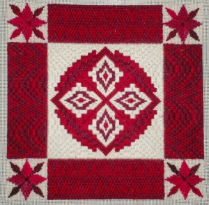 coverlet needlepoint bargello, designed by needlepoint expert janet m. perry