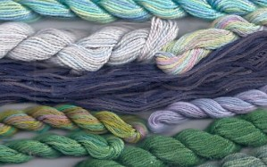 Color Schemes from Semi-solid Threads