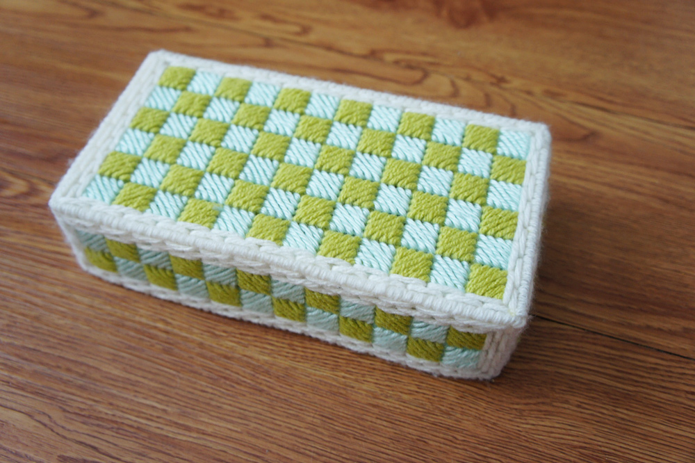 Needlepoint Covered Brick Free Project