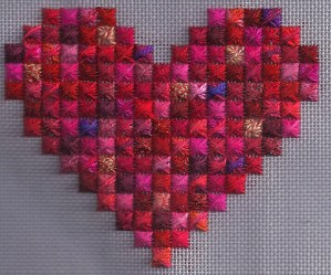 Rhodes Scrap Bag Needlepoint Heart
