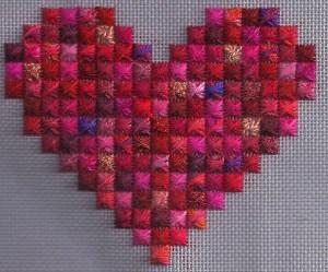Rhodes Scrap Bag Needlepoint Heart