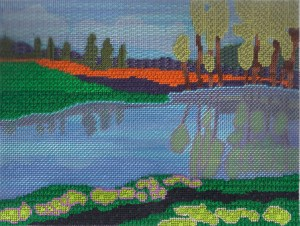 Afternoon Pond needlepoint