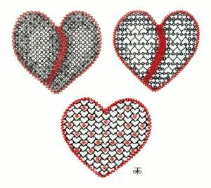 A Blackwork Valentine for You