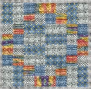 25 tent stitches needlepoint sampler