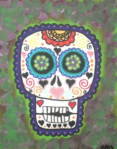 Day of the Dead in Needlepoint