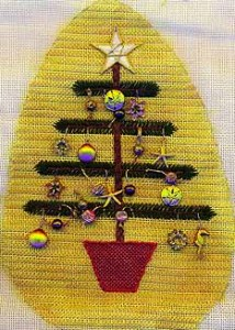 German Feather Tree Needlepoint Project