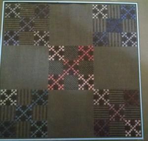 Amish Quadruple Nine Patch Free Needlepoint Project