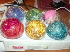 Easy, Glittery Ornaments