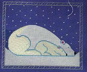 beau geste needlepoint polar bear and cub