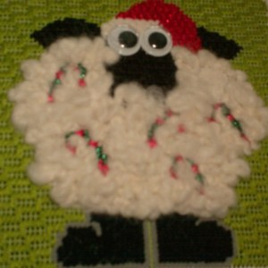 annie lane needlepoint sheep ornament