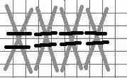 double tied oblong cross stitch diagram