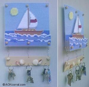 Beachy Plastic Canvas Free Design
