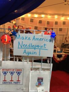 pop-up needlepoint store at Republican Convention