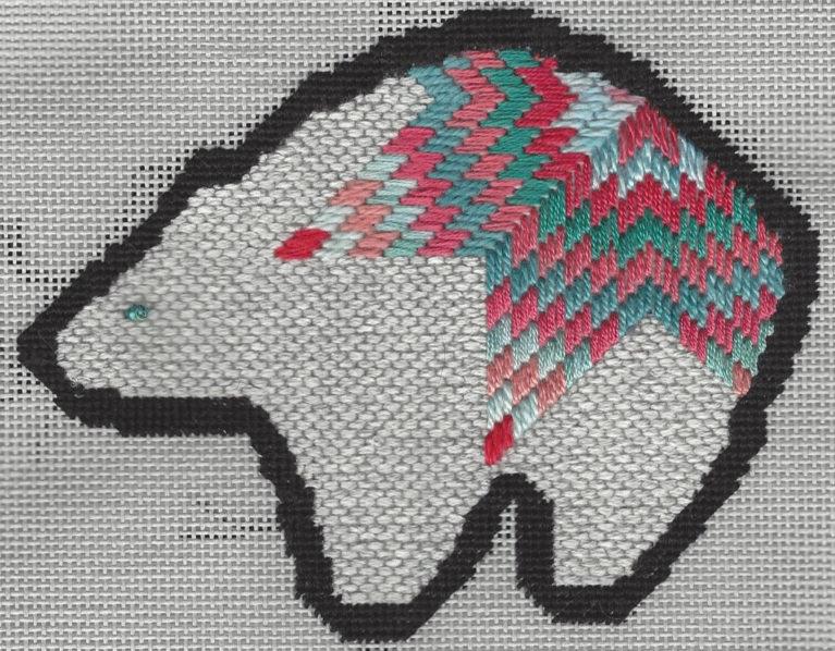 Zuni Bear Ornament Nuts About Needlepoint
