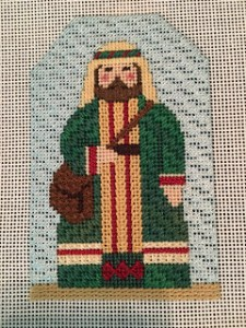 shepherd needlepoint nativity figure